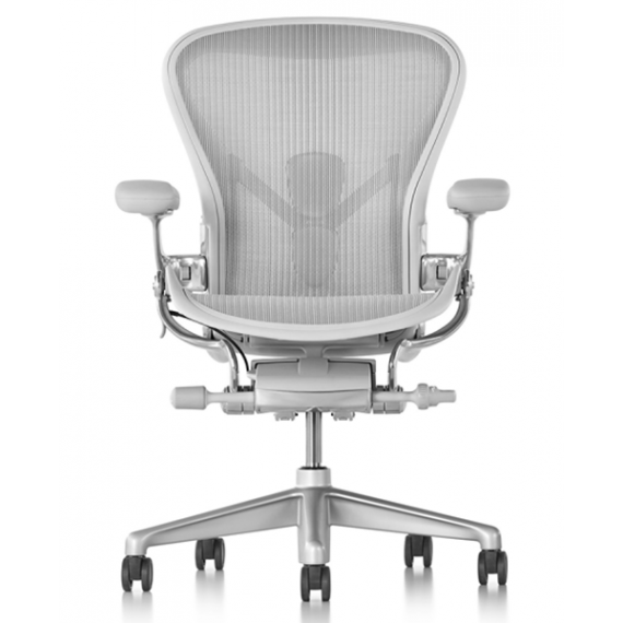 Chaise AERON mineral taille B - Toutes options - Herman Miller