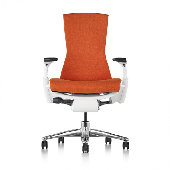 Siège de bureau ergonomique embody couleur orange papaye