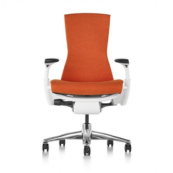 Siège de bureau ergonomique embody couleur orange papaye