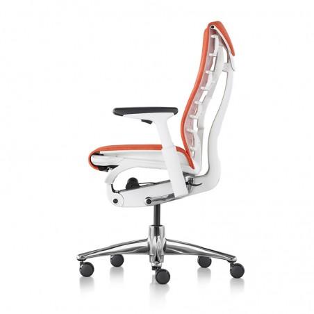 Siège de bureau ergonomique embody couleur orange papaye vue de profil