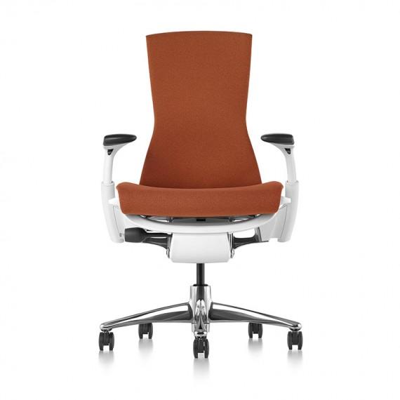 Chaise de bureau ergonomique embody, coloris bleu type Marron vue de face