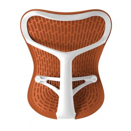 Chaise MIRRA 2 - Finition Urban Orange Triflex Back/ Structure Blanche - Herman Miller