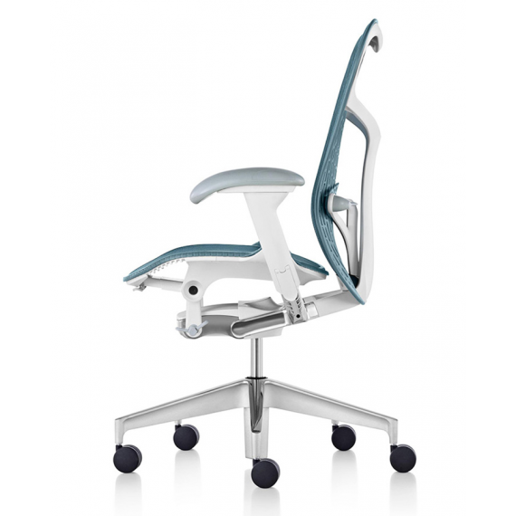 Chaise MIRRA 2 - Finition Dark Turquoise Triflex Back/ Structure Blanche - Herman Miller