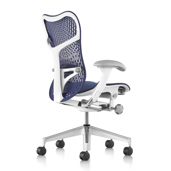 Chaise MIRRA 2 - Finition Twilight Triflex Back/ Structure Blanche - Herman Miller