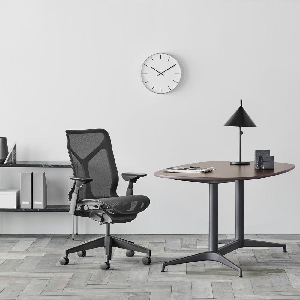 bureaux avec sièges cosm noir dossier moyen accoudoirs ajustables