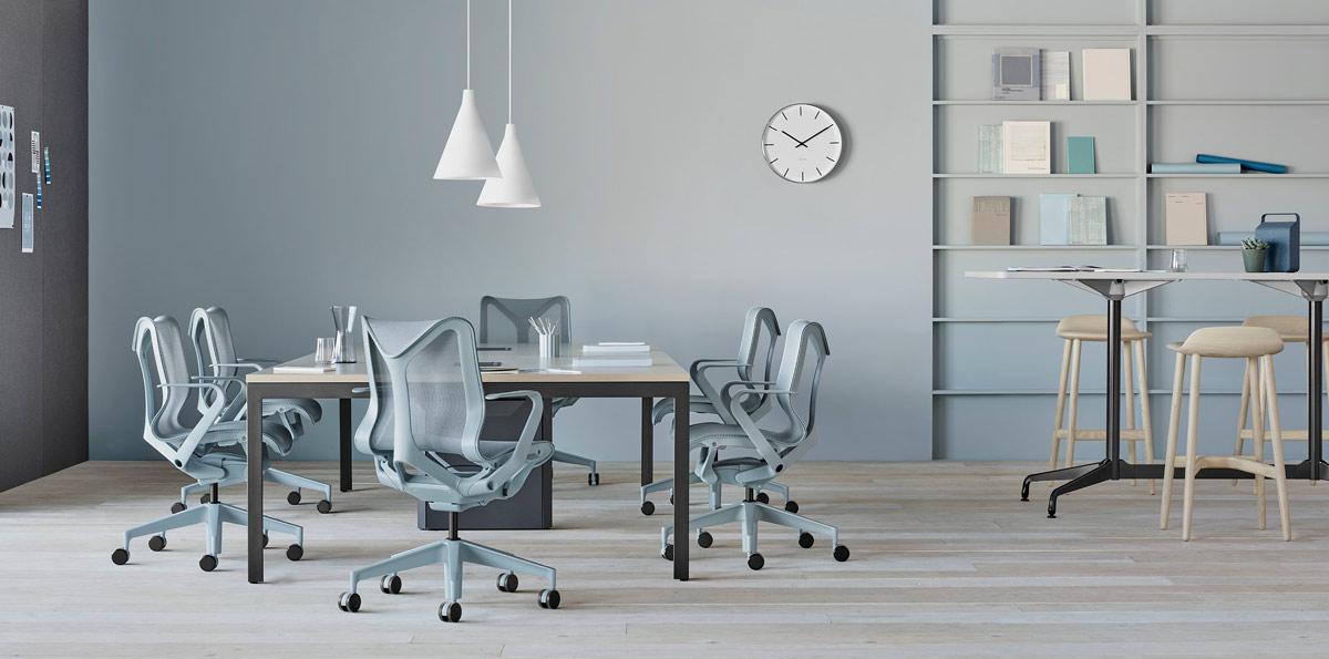 bureaux avec sièges cosm gris